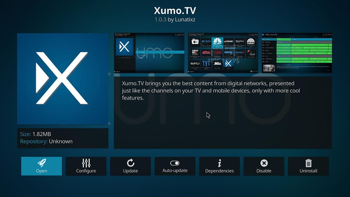 XUMO.TV Kodi Addon