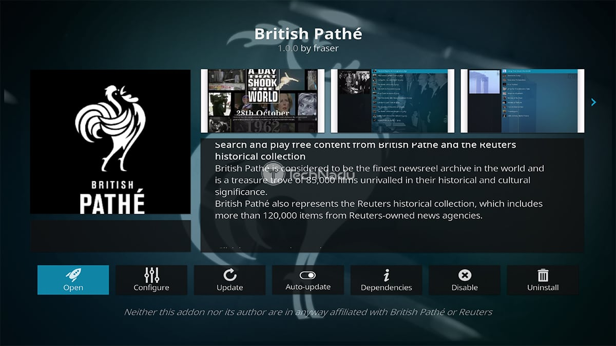 British Pathe Kodi Addon