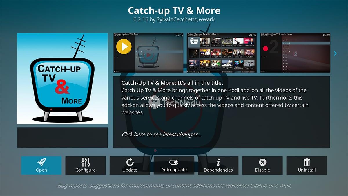 Catch Up TV Kodi Addon