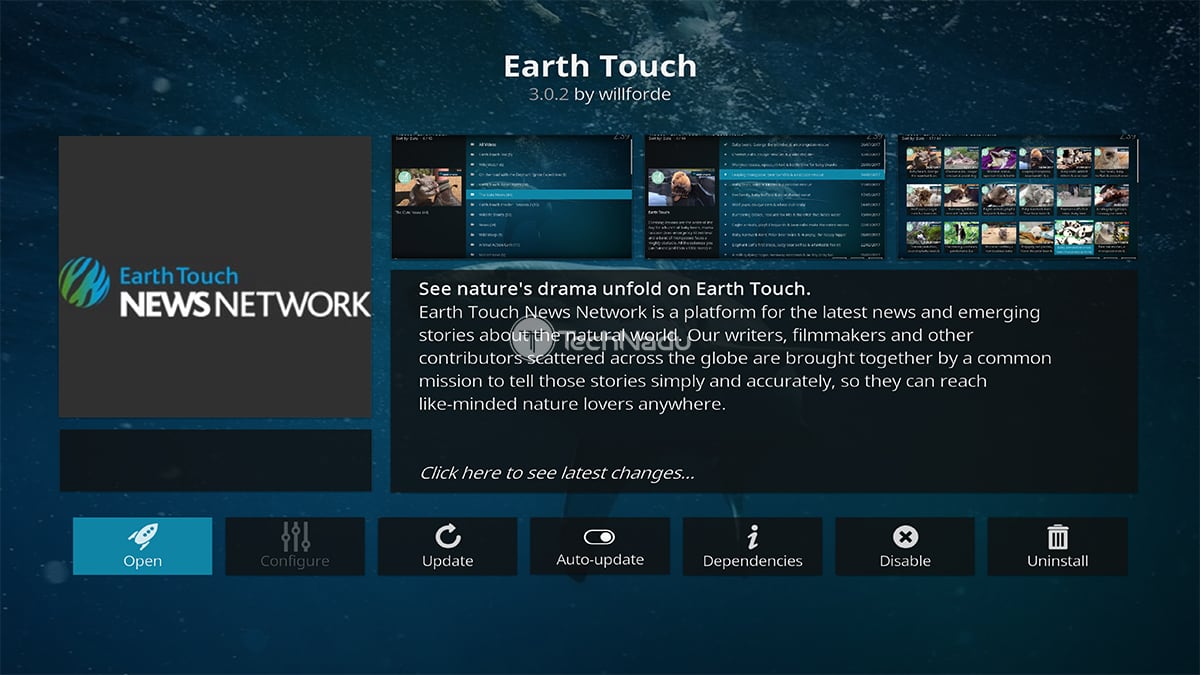 Earth Touch Kodi Addon