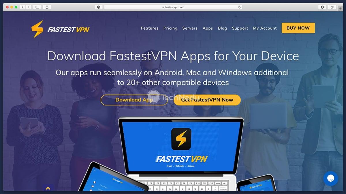 FastastVPN Download App Landing Page