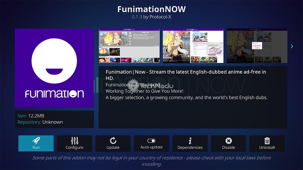 Funimation NOW Kodi Addon