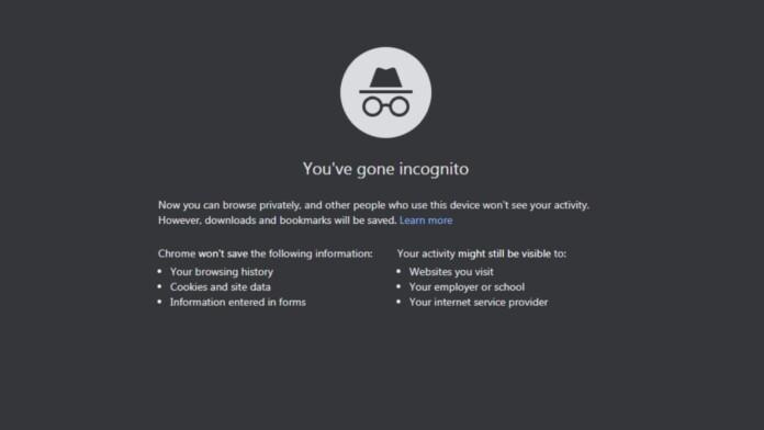 Google's incognito mode