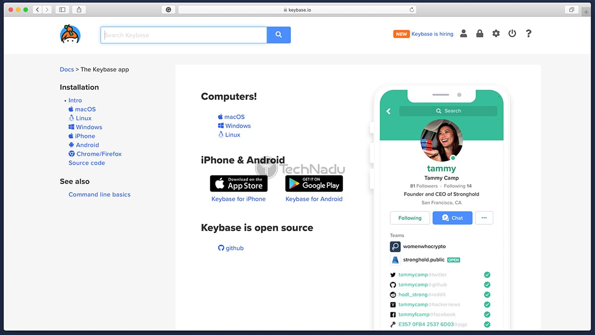 Keybase App Download Page