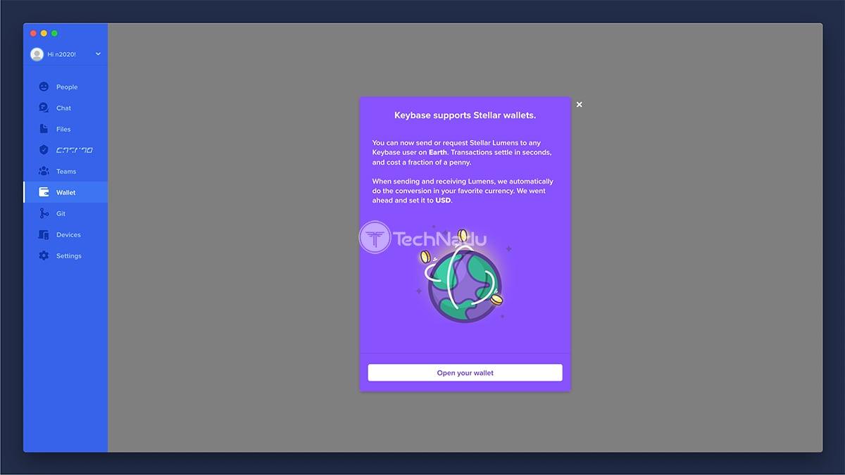Keybase Cryptowallet UI