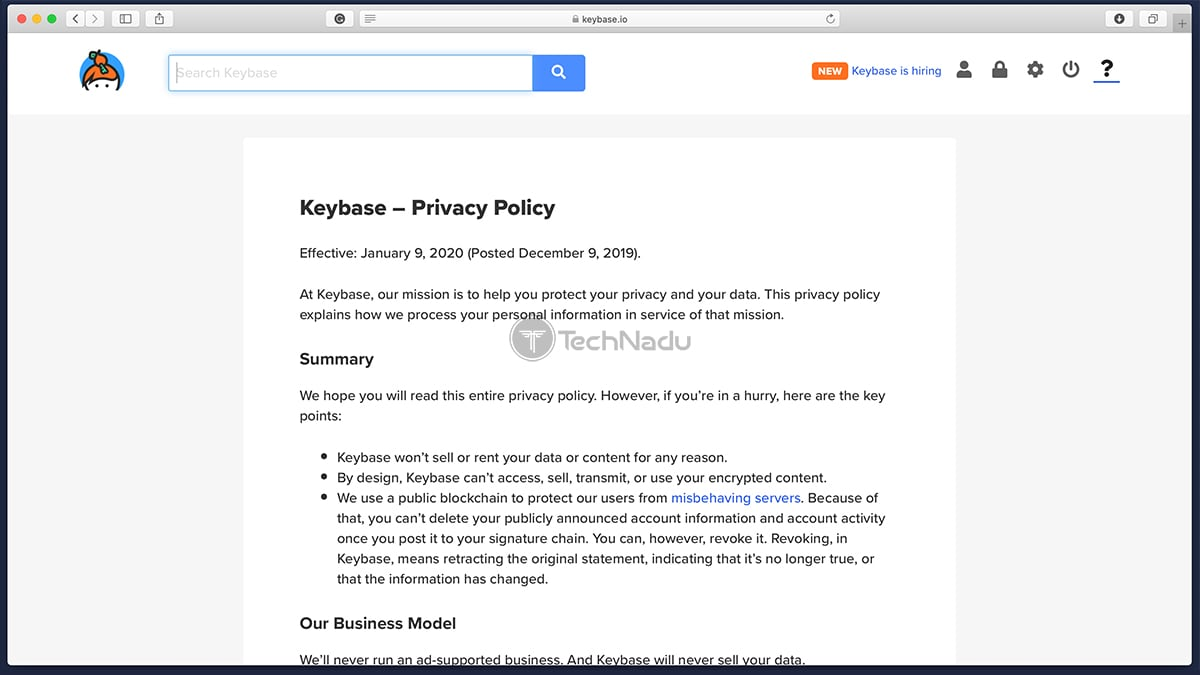 Keybase Privacy Policy