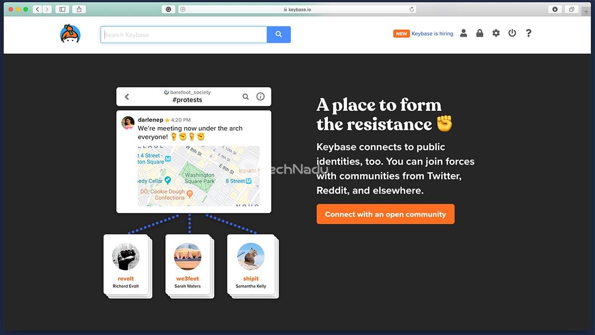 Link to Keybase Website