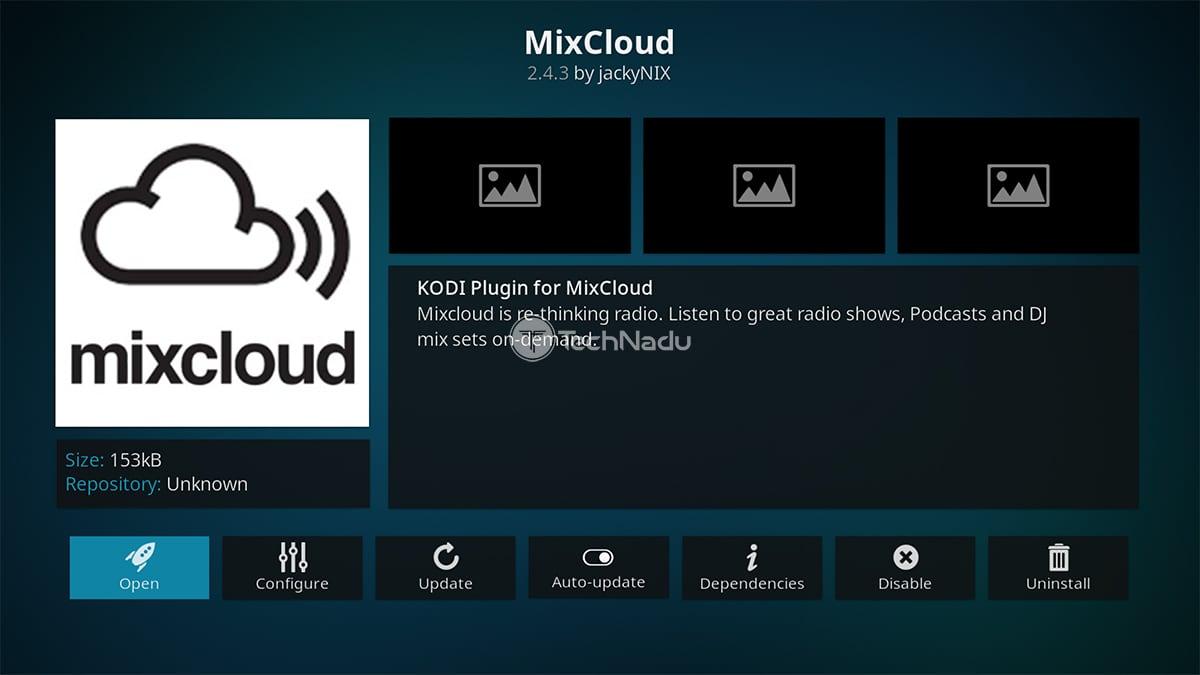 MixCloud Kodi Addon