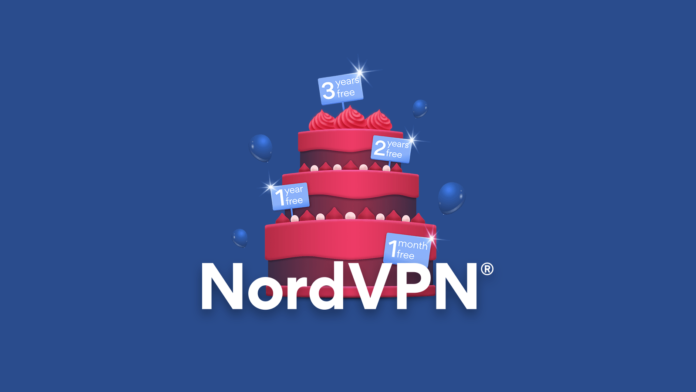 NordVPN Birthday Logo
