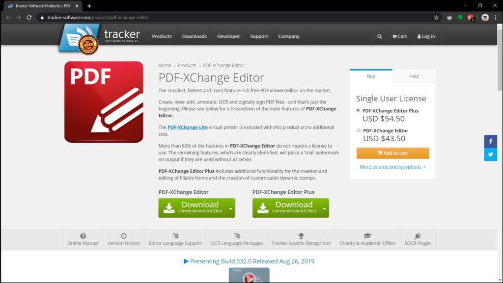 Free PDF-XChange Editor