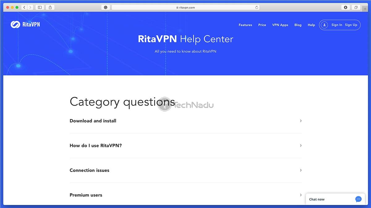 RitaVPN Help Center