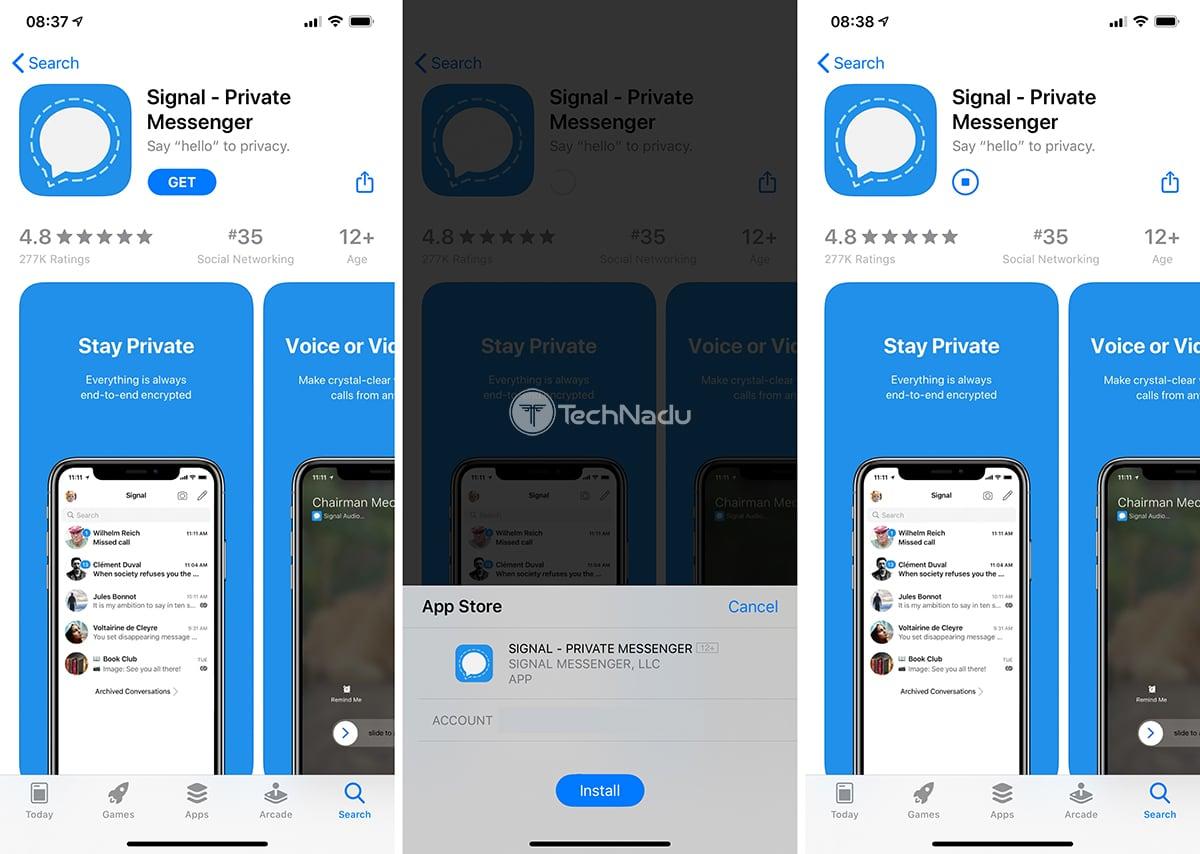Signal iOS App Store