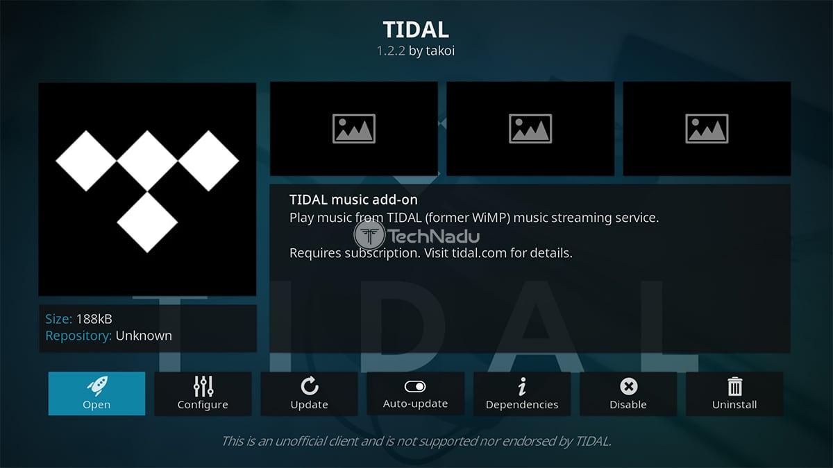 TIDAL Kodi Addon