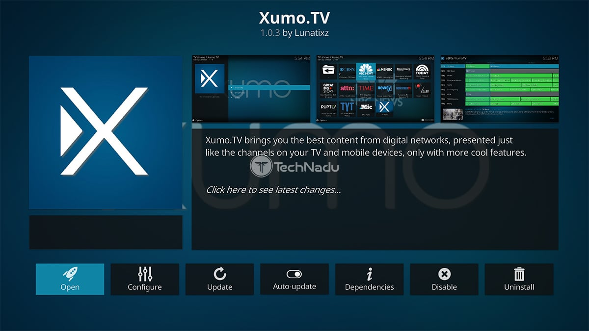 Xumo TV Kodi Addon