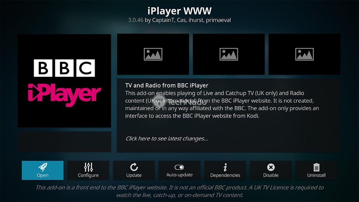 iPlayer WWW Kodi Addon