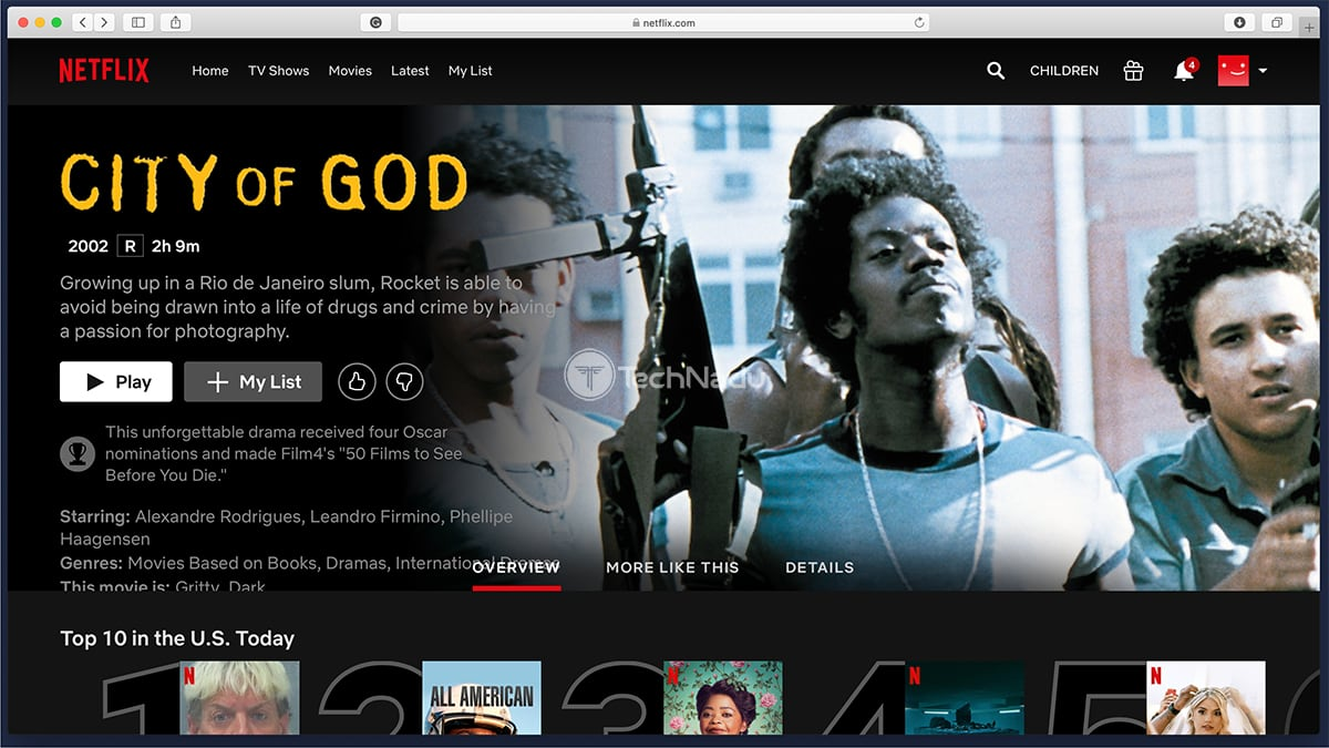 City of God Netflix Streaming