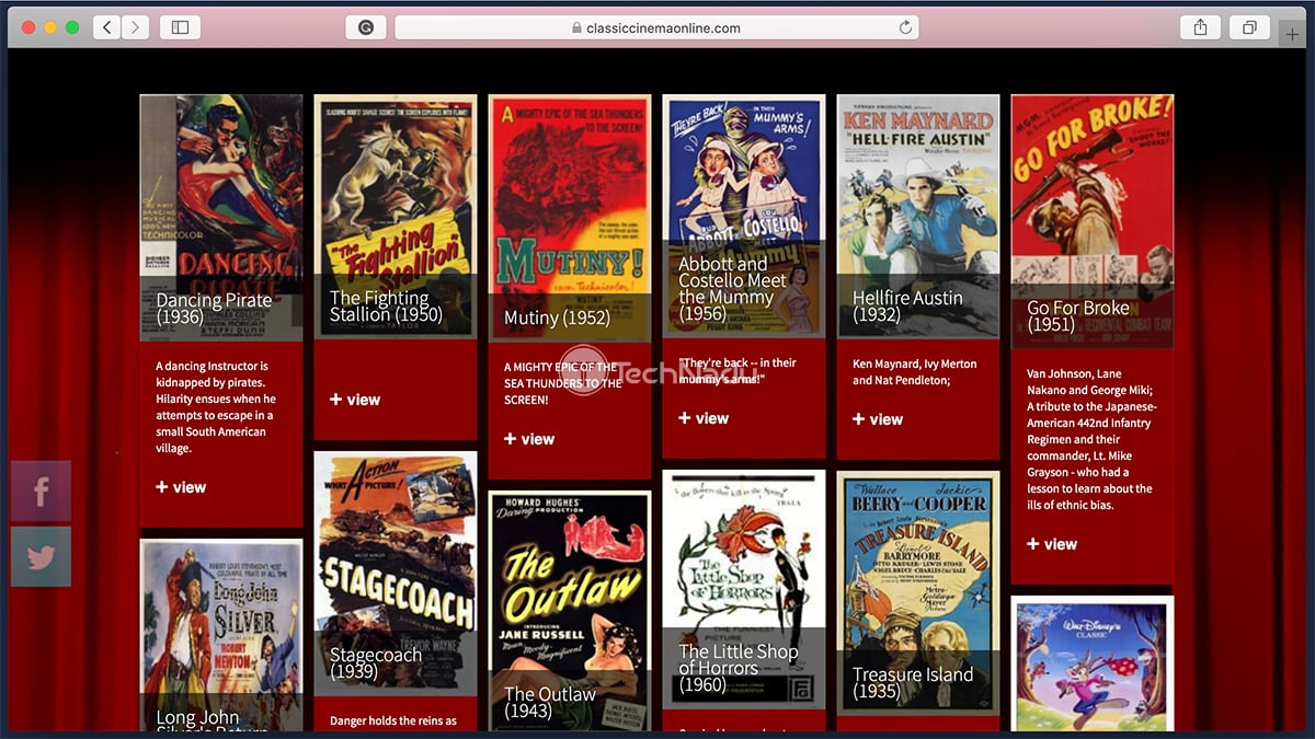Classic Cinema Online Homepage