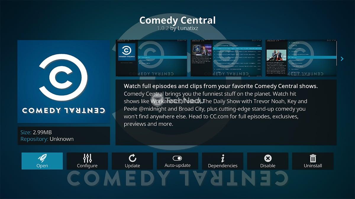 Comedy Central Kodi Addon