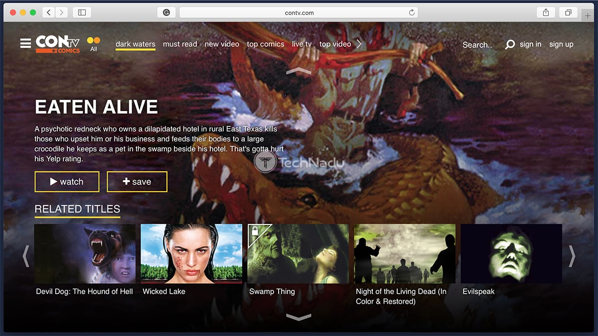 ConTV Homepage
