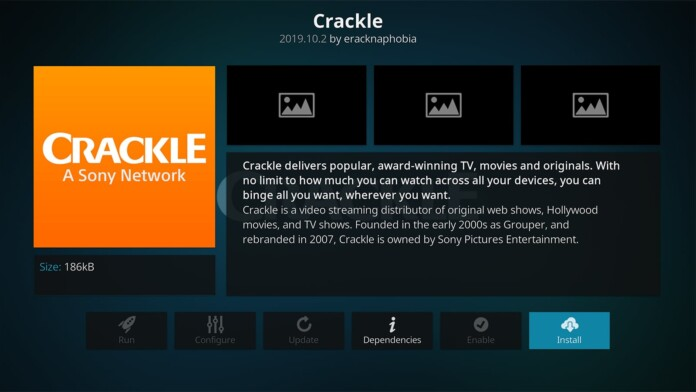 Crackle Kodi Addon Overview