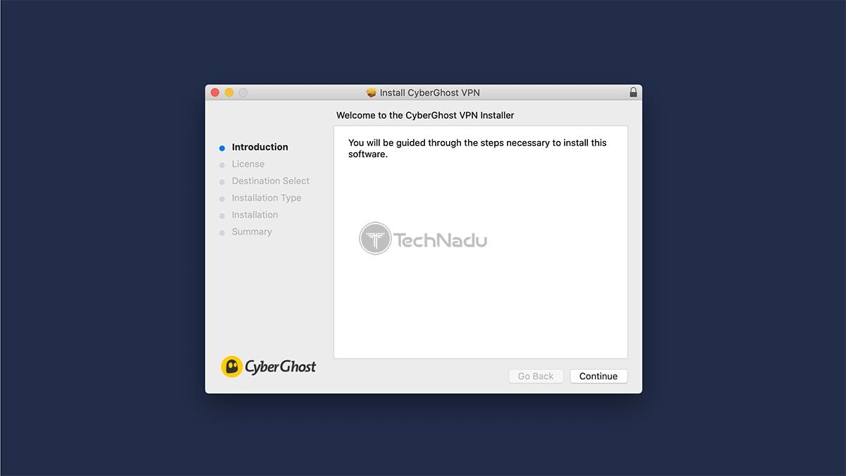 CyberGhost Installation MacOS