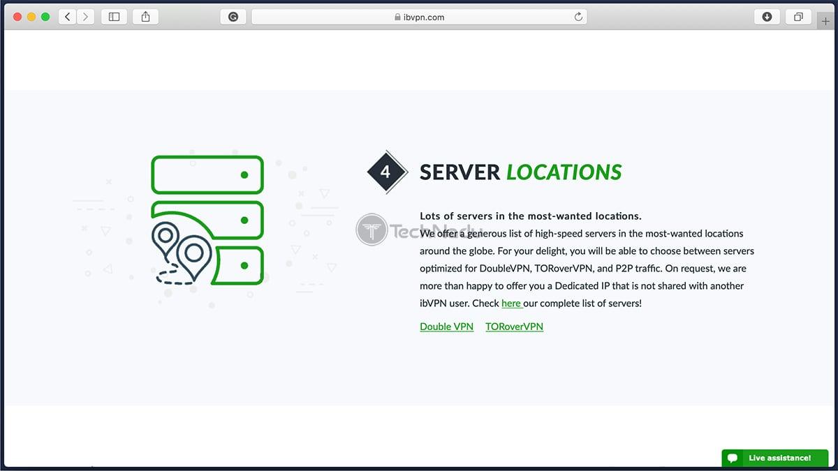 Description of ibVPN Servers