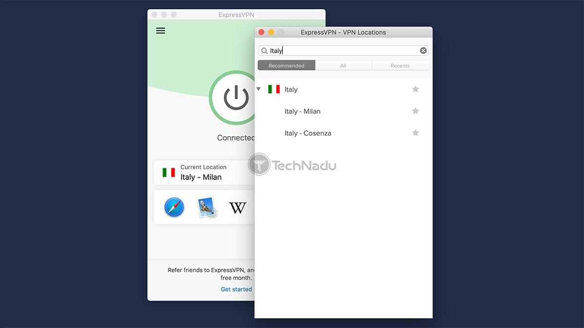 ExpressVPN Italy Based Servers