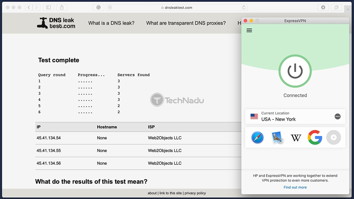 ExpressVPN Passes DNS Leak Test