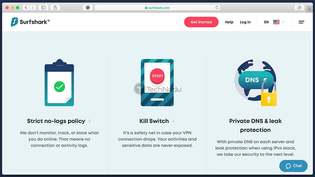 Features Surfshark VPN