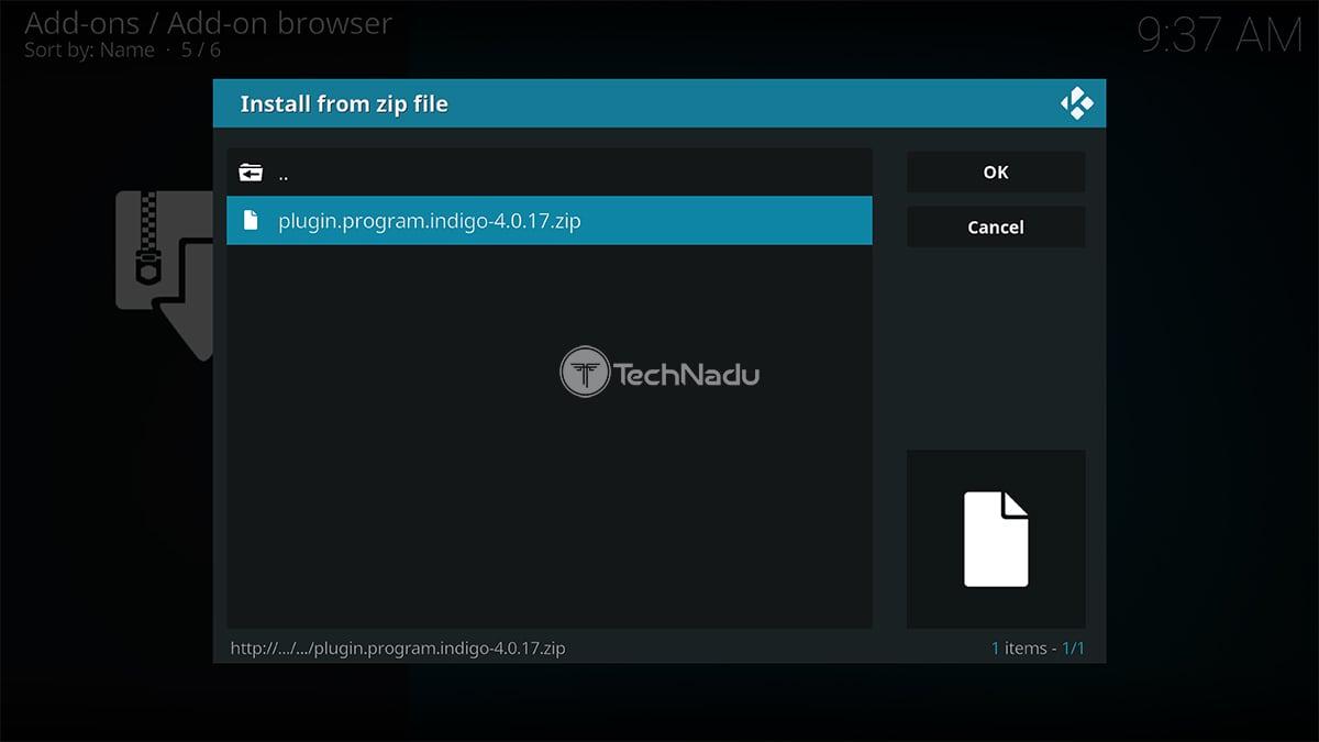 Indigo for Kodi ZIP File