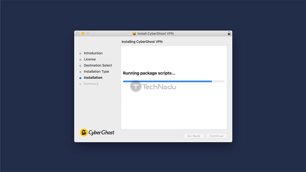 Installation Wizard macOS CyberGhost VPN