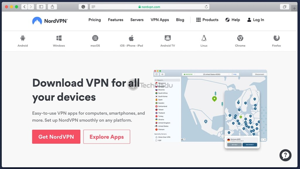 List of NordVPN Applications