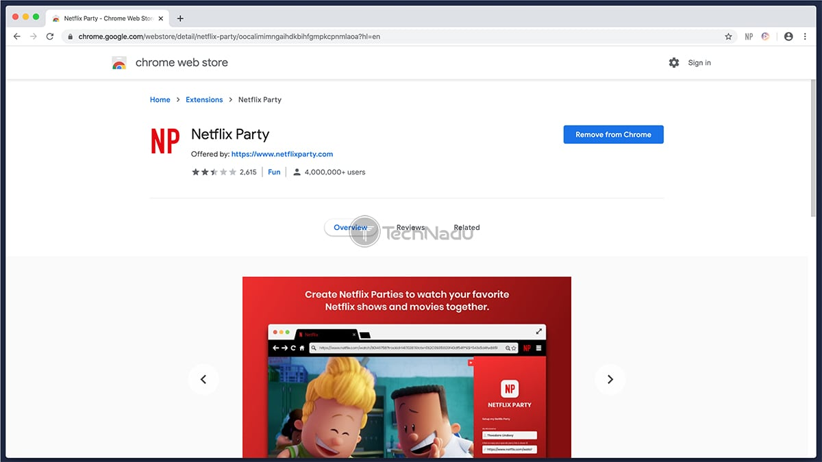 Chrome Netflix Party