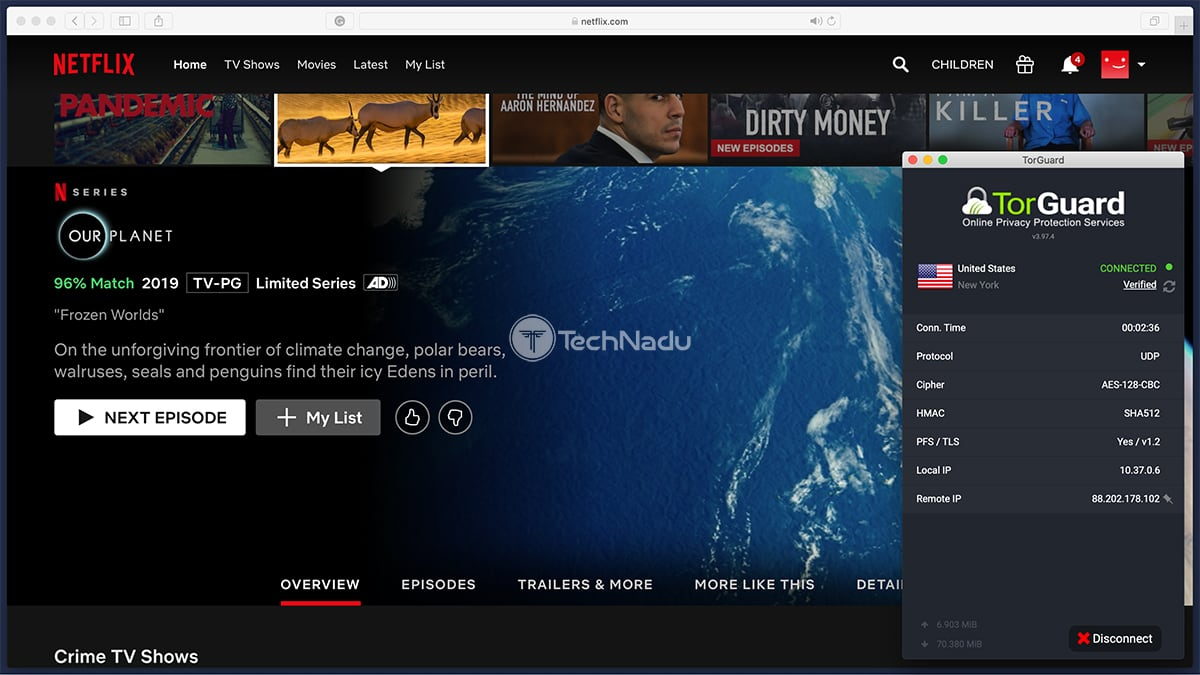 Netflix Streaming via TorGuard