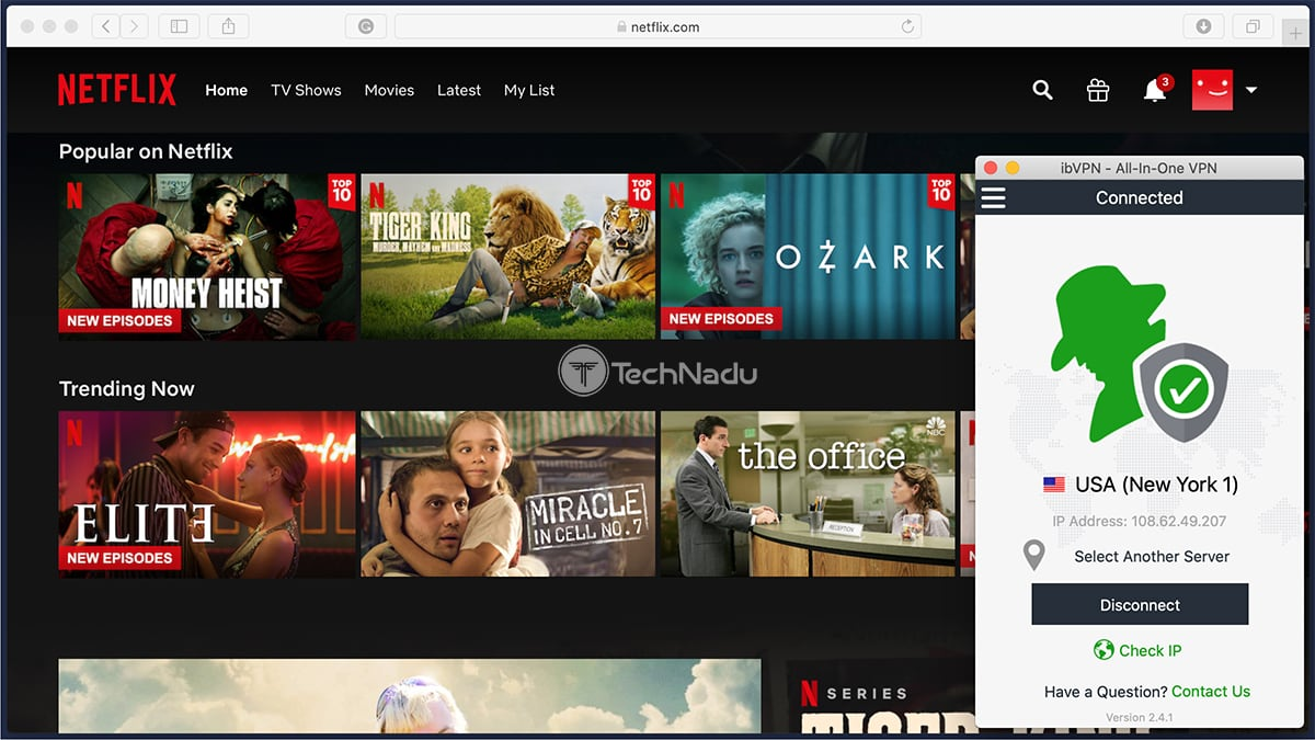 Netflix Streaming via ibVPN