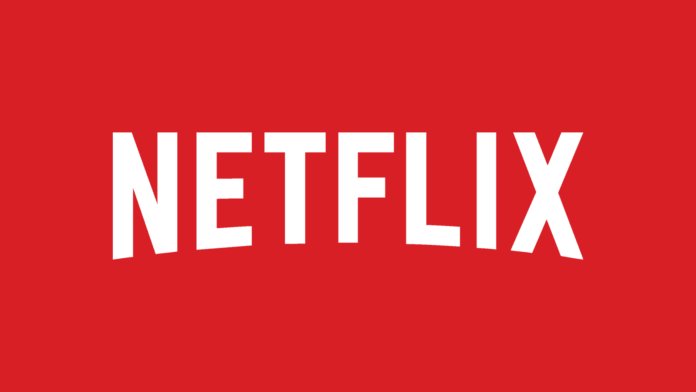Netflix White Logo on Red Background