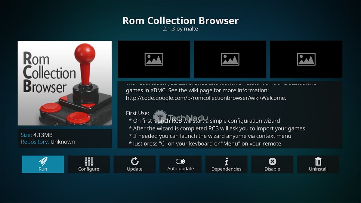 ROM Collection Browser Kodi Addon