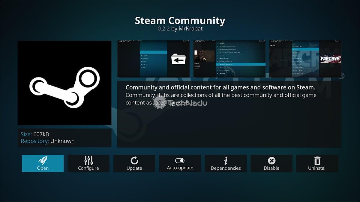 Steam Community Kodi Addon