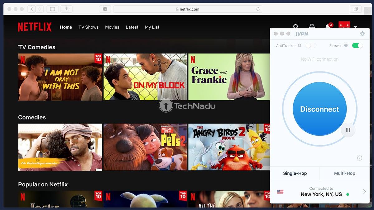 Streaming Netflix via IVPN
