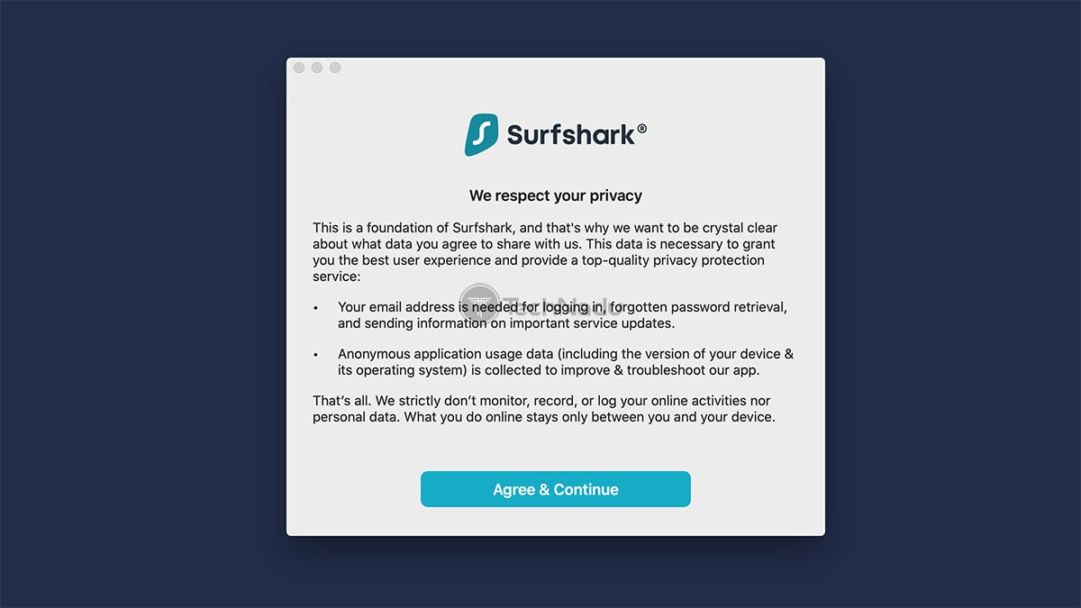 Surfshark Privacy Prompt