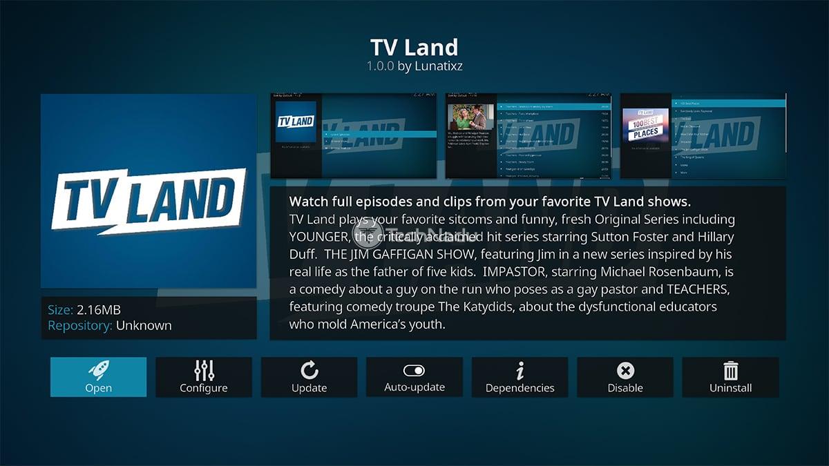 TV Land Kodi Addon