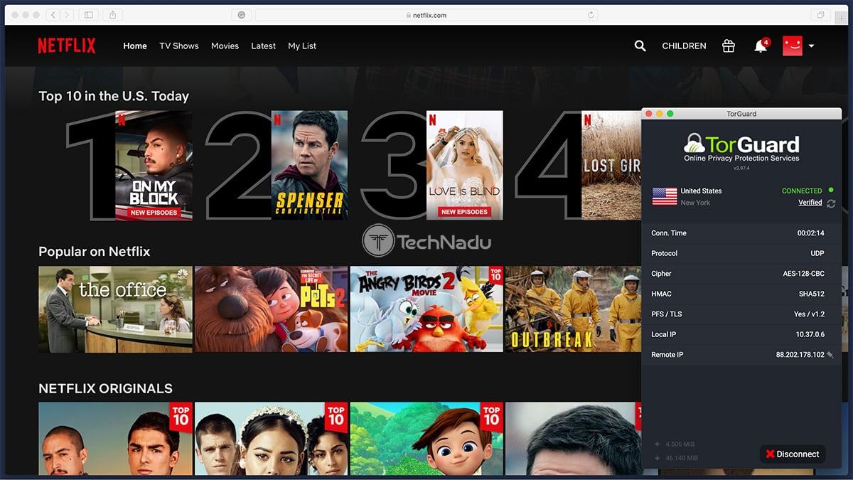 TorGuard Unblocks Netflix