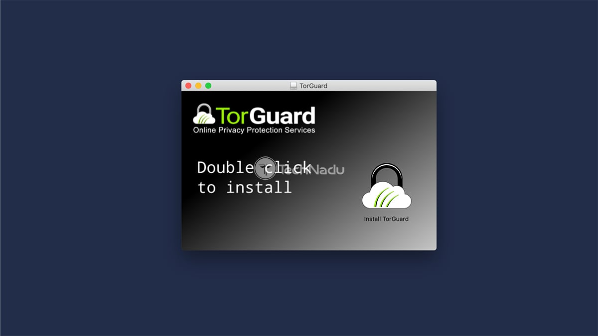 TorGuard macOS Installation Screen