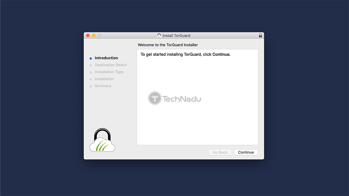TorGuard macOS Installation Wizard