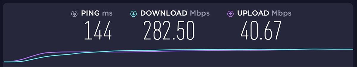 USA Server Performance ExpressVPN