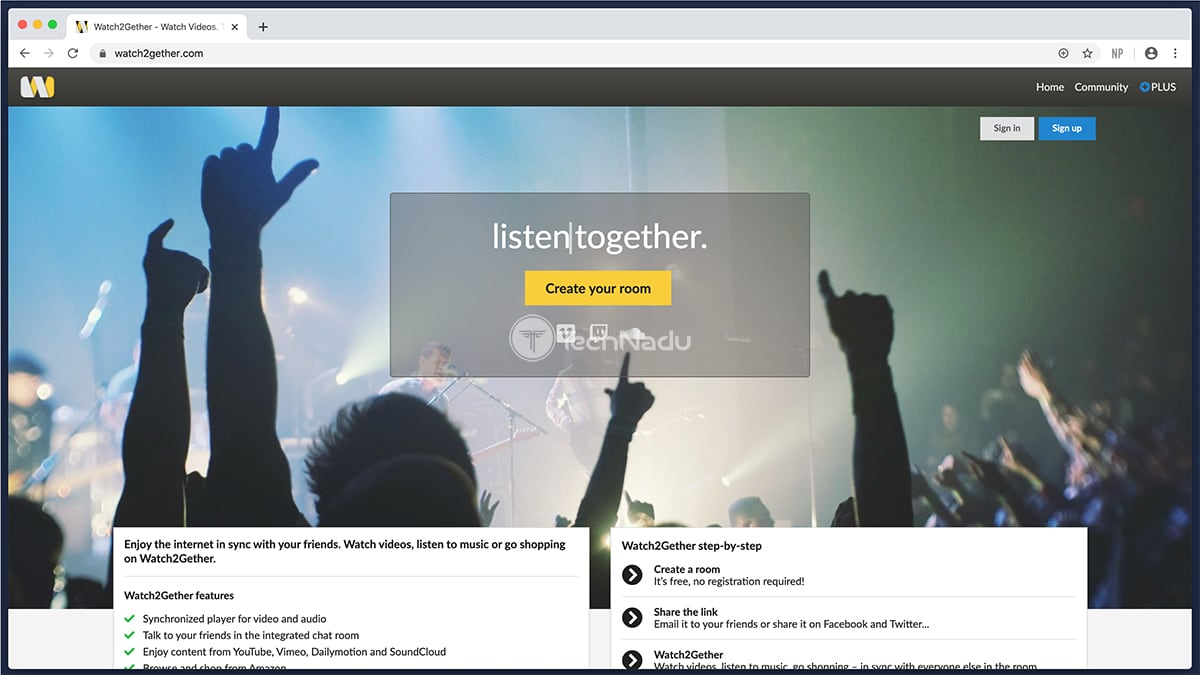 Watch2Gether Website UI