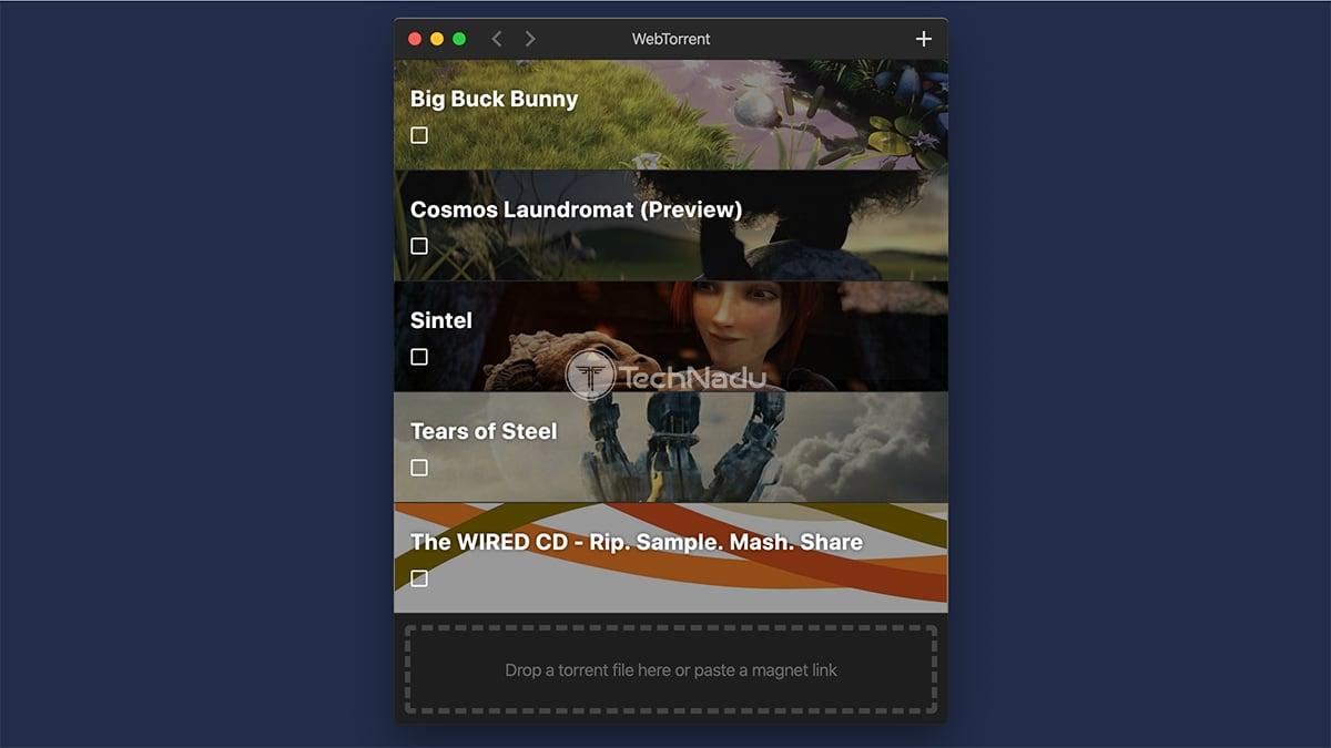 WebTorrent Client MacOS