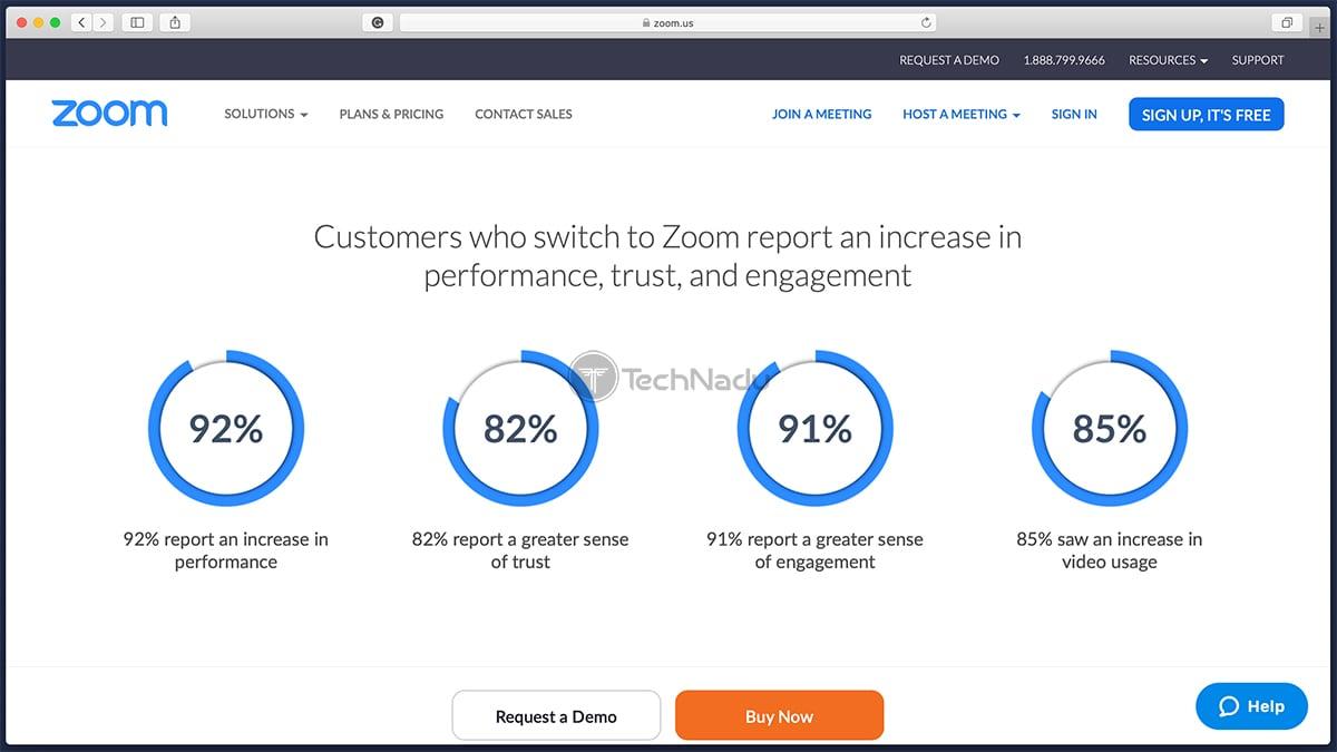Zoom Homepage Website
