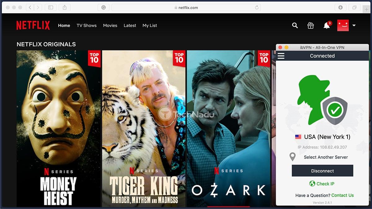 ibVPN Unblocks Netflix USA
