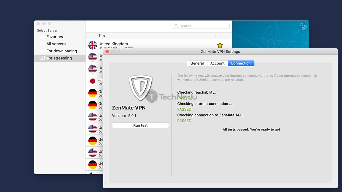 Connection Preferences ZenMate VPN